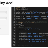 Ace Code Editor in Shiny (shinyAce)